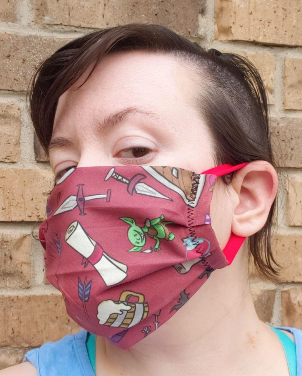 Dungeon Crawler Face Mask - Adjustable Sizing