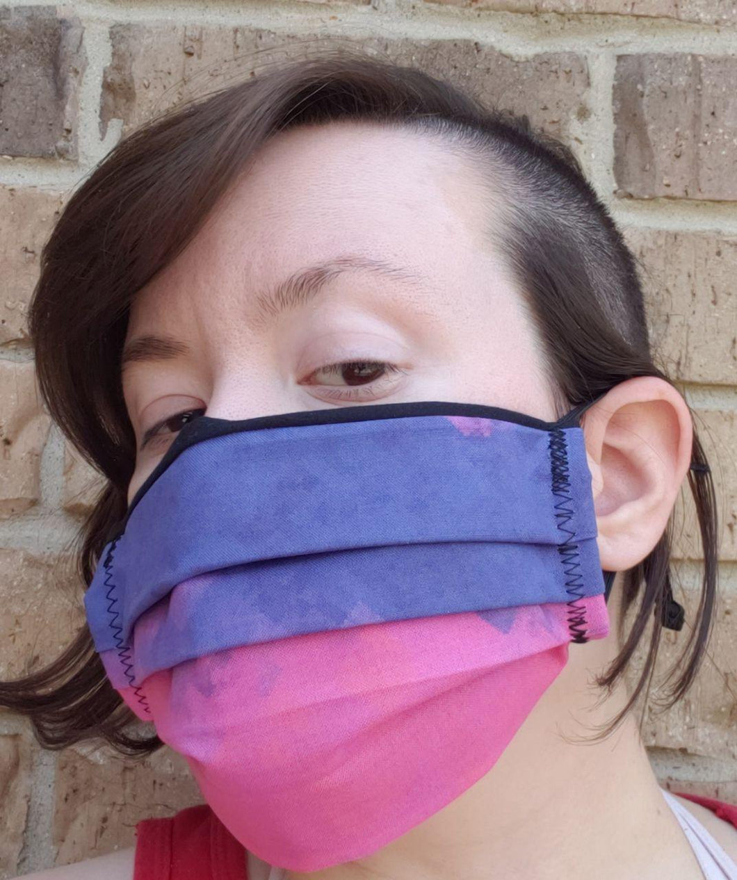 Twilight Bisexual Pixel Pride Face Mask - Adjustable Sizing