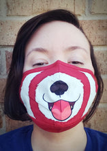Red Panda Snout Face Mask - Cotton Face Mask With Filter Pocket and 2 Inserts