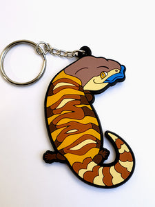 Blue Tongue Skink PVC Keychain