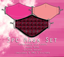 Utena Mask Set : Rose Crest, Hot Pink, and Light Pink