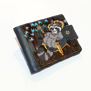 Trash Royalty Raccoon Wallet