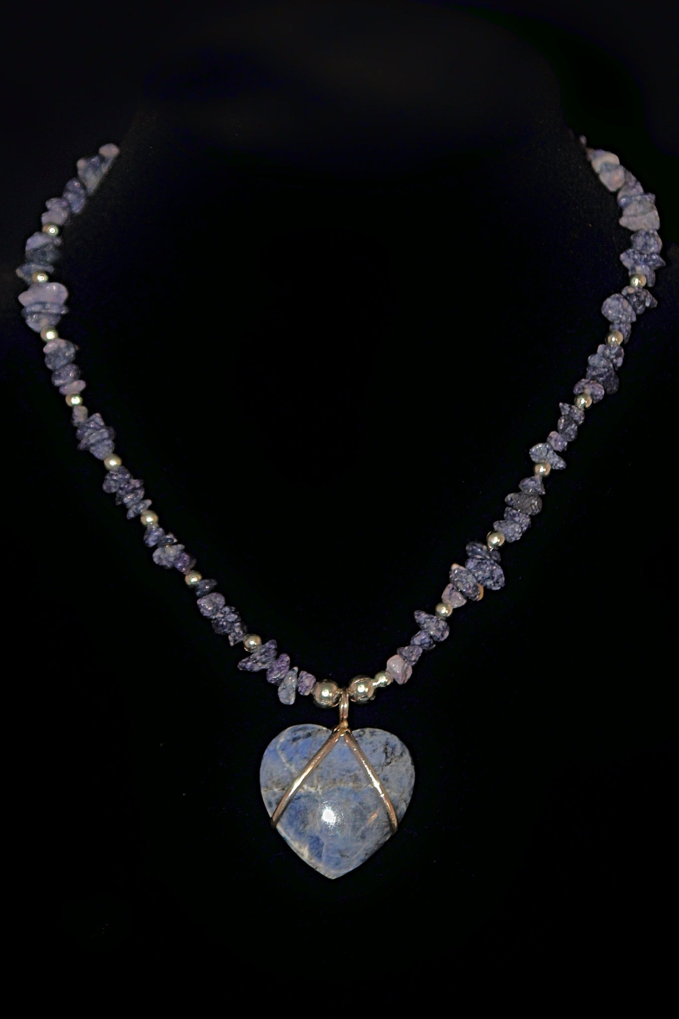 Blue Stone Heart Necklace - Native Nation Arts & Crafts