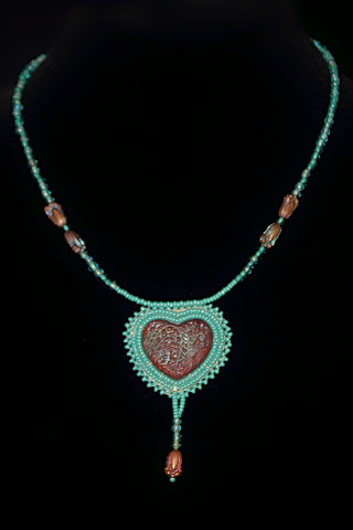Ceramic Heart Necklace - Native Nation Arts & Crafts