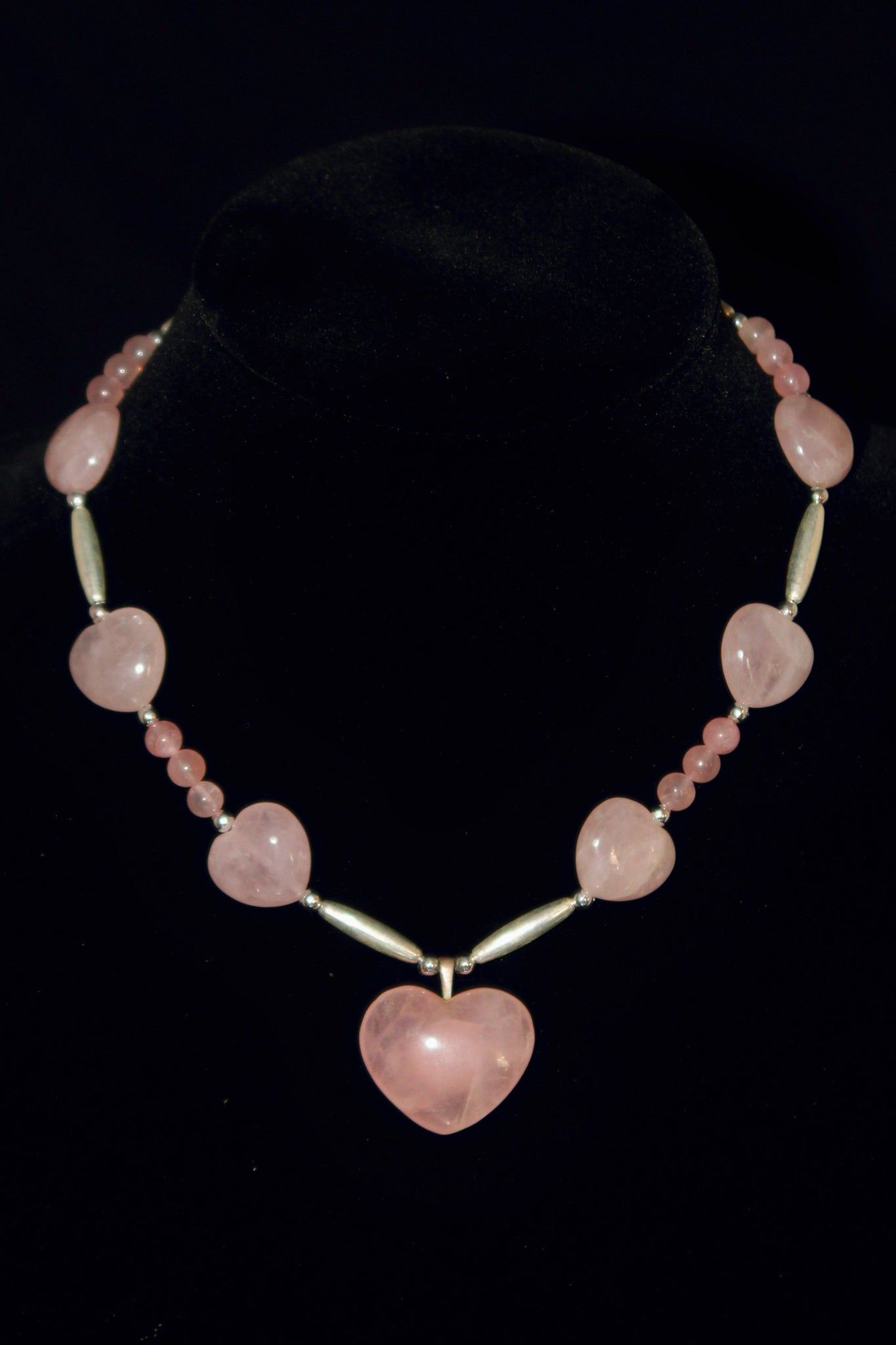 Rose Quartz Heart Necklace - Native Nation Arts & Crafts