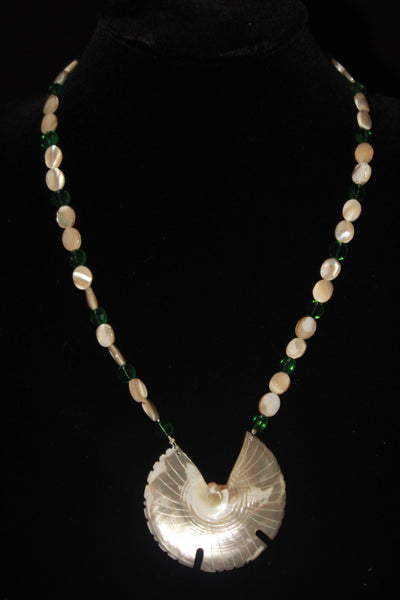 Mother of Pearl Bird Necklace