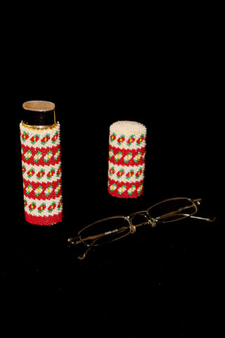 Beaded Reading Glasses Case