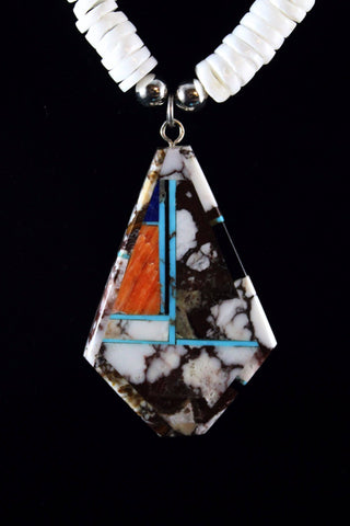 Inlaid Pendant By Christopher Nieto - Santo Domingo Pueblo