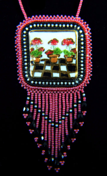 """Morning Flowers"" Beaded Necklace"