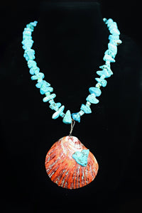 """North Of The Equator"" Turquoise And Shell Necklace"