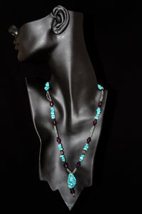 Turquoise And Beaded Necklace