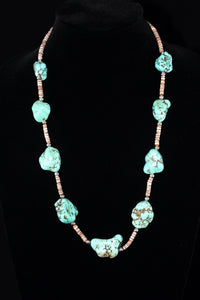 Turquoise And Hishi Necklace