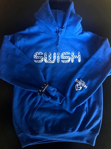 """Nothin but SWiSH"" Hoodie - Royal Blue/White"