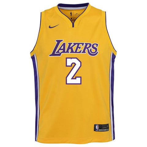 "Lakers ""#2 Lonzo Ball"" road Jersey"