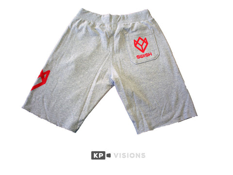 Sweatshorts - Grey/Red