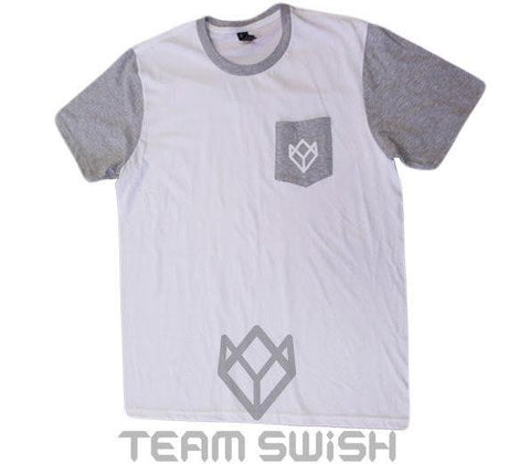Swish Pocket Tee - White/Grey