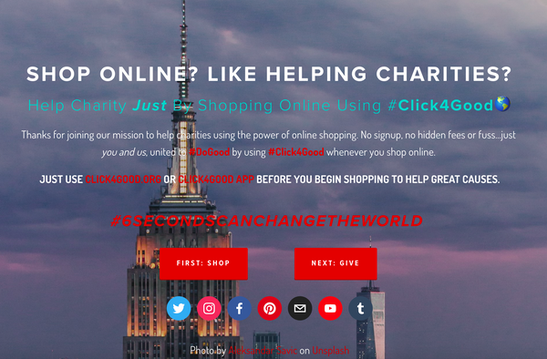 How Does Using Click4Good Help Good Causes?