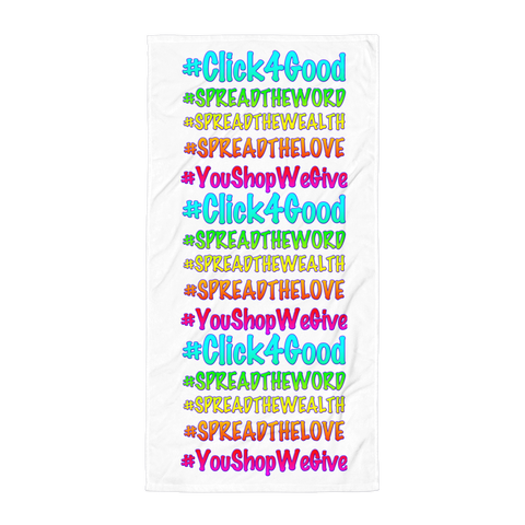 "Click4Good ""Speak"" Towel"