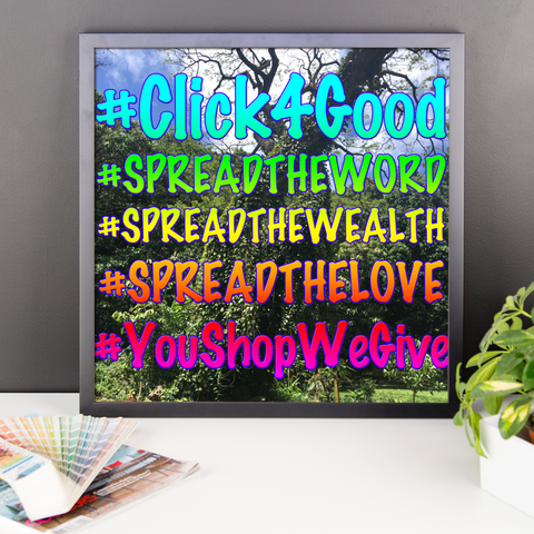 "Click4Good ""Speak"" Framed poster"