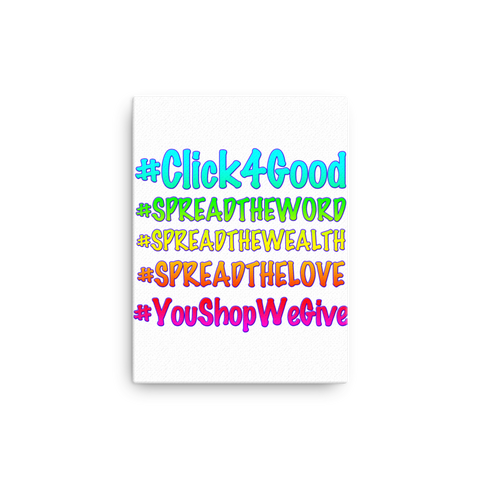 "Click4Good ""Speak"" Canvas"