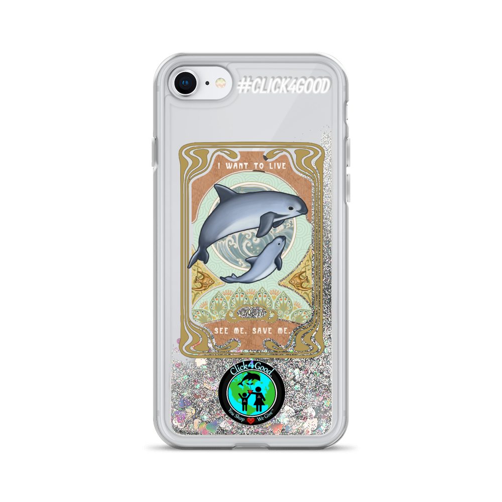 #VAQUITALOVE Liquid Glitter Phone Case