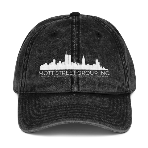 Mott Street Group Inc. Vintage Cotton Twill Cap