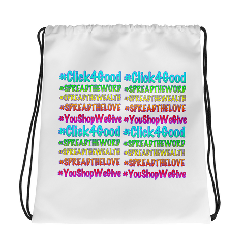 Click4Good Speak Drawstring bag