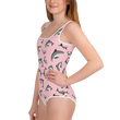 #VAQUITALOVE Pink All-Over Print Youth Swimsuit