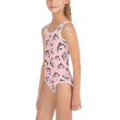 #VAQUITALOVE Pink All-Over Print Kids Swimsuit