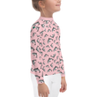 #VAQUITALOVE Pink Printed Kids Rash Guard