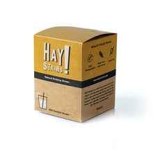 Load image into Gallery viewer, HAY! Straws are 100% compostable and biodegradable, natural drinking straws. This 500 pack of cocktail straws is the best solution for entertaining a crowd or to enjoy your favorite drink at home.