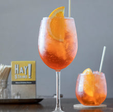 Load image into Gallery viewer, HAY! Straws are minimally processed, all natural, made from wheat-stems and Gluten-free. Our Original Hay straws are all 100% biodegradable and compostable at home, and never soggy: The perfect touch to your favorite drink or for entertaining a crowd.