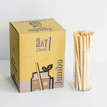 Load image into Gallery viewer, Hay jumbo straws, jumbo straws, biodegradable straws, plastic straw alternatives, plant stem straws