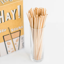 Load image into Gallery viewer, HAY STIR STICKS, HAY STIRRERS, COFFEE STIRRERS, HAY STRAWS, NATURAL STIR STICKS, BIODEGRADABLE STIR STICKS