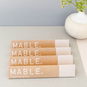 Replace your plastic toothbrush with a MABLE bamboo toothbrush. The handle is made from sustainably harvested bamboo, certified by the FSC and is fully compostable. This MABLE brush has a unique self-standing design and can be stored in your medicine cabinet or counter top.