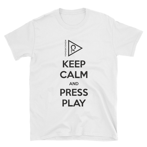 Monochromea Keep Calm short-sleeve unisex white T-Shirt