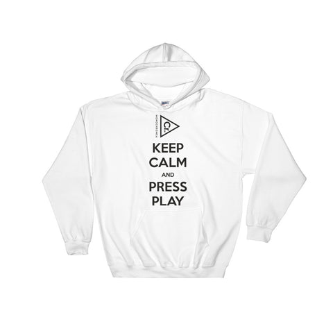 Monochromea Keep Calm hooded sweatshirt white