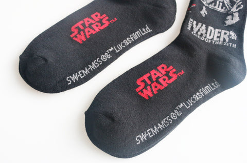 5 pairs / lot Black Star Wars Darth Vader socks