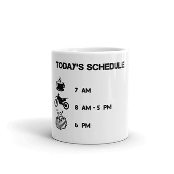 Today's Schedule Dirt Bike Ride Mug