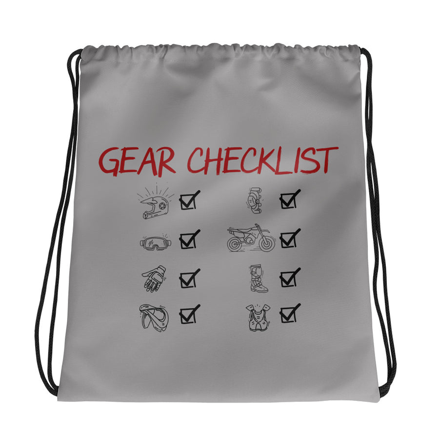 Gear Checklist Drawstring bag
