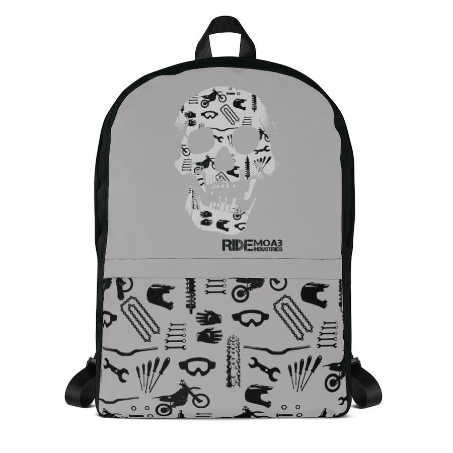 Dirt Bike Skull Backpack