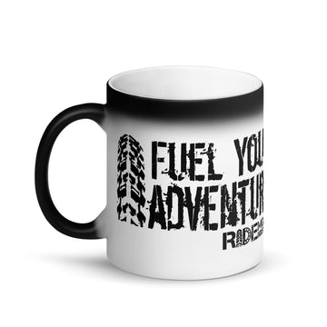 Fuel Your Adventure Matte Black Magic Mug