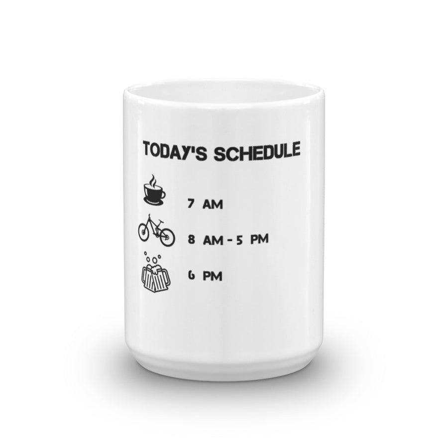 Today's Schedule Bike Ride Mug