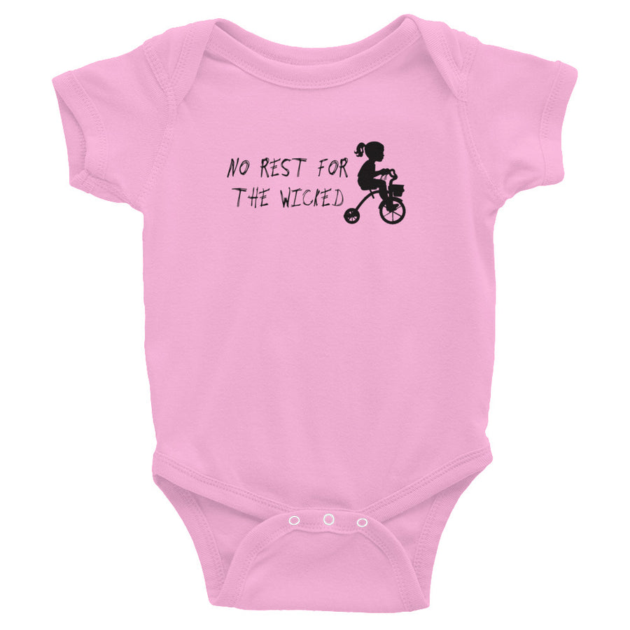 No Rest for the Wicked Infant Bodysuit