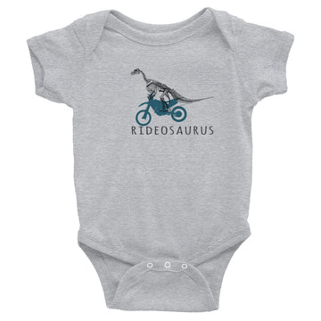 Dirt Bike Ridedsaurus Infant Bodysuit