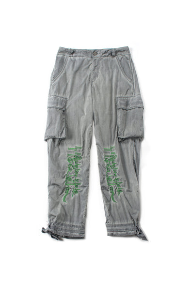 GREY NYLON GRAPHIC LOUNGE PANTS - INXX USA