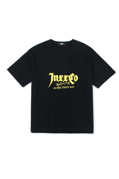 BLACK OVERSIZED INXX LOGO COTTON T-SHIRT - INXX USA