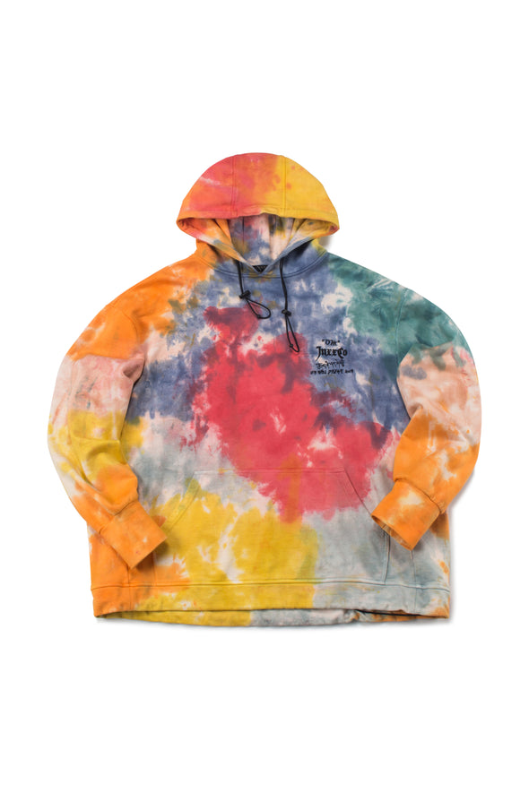 ORANGE FRENCH TERRY TIE-DYE HOODIE - INXX USA