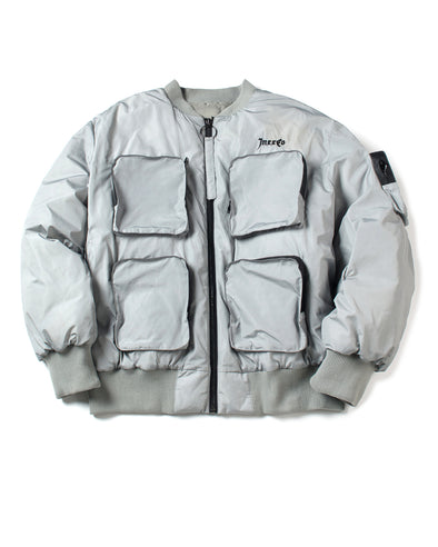 Gray Down Flight Jacket - INXX USA