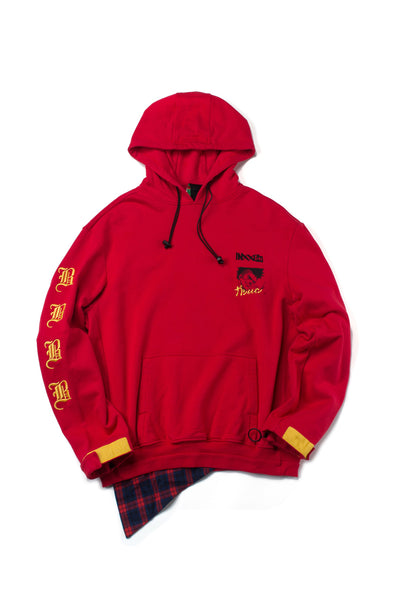 Red Comic Graphic Hoodie - INXX USA